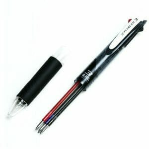 Uni Ballpoint Pen Jetstream 3 Color Red, Blue Ink 0.7mm, Black